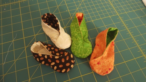 Totally reversible booties- also sold at A Moms Space