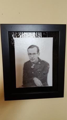 Military Image of my Grandfather done on Glass